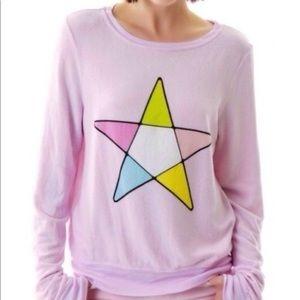 Wildfox Pink Star Jumper